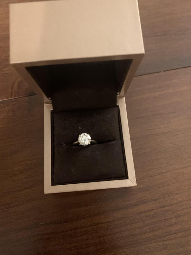 2CT Moissanite Engagement Ring