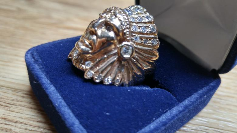 Mans Indian Head Ring