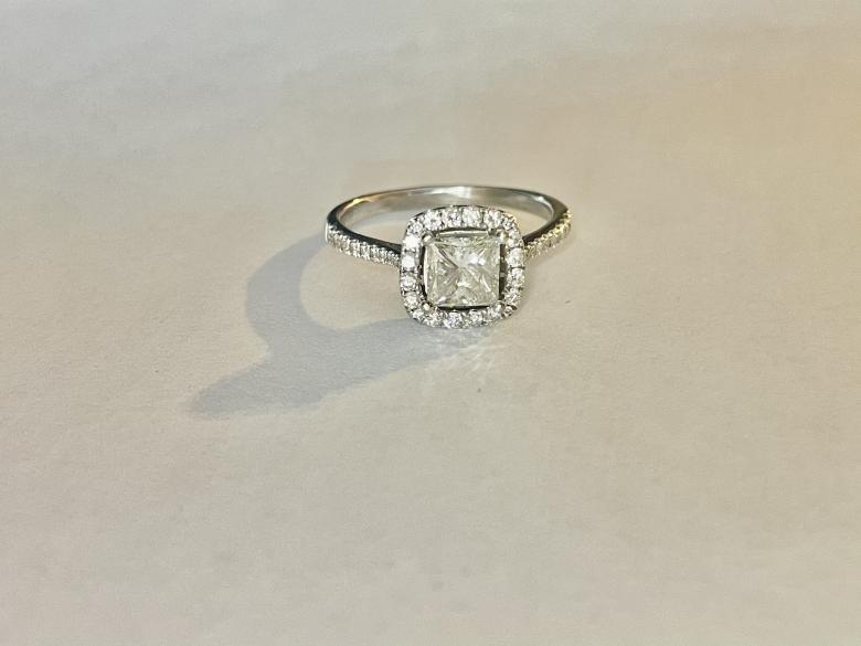Beautiful custom princess cut