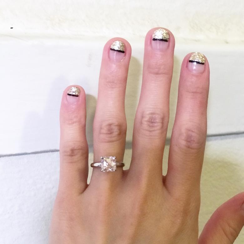 2CT fainted Pink Moissanite