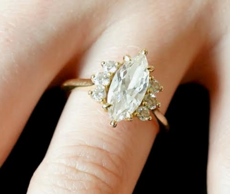 1.71cts Marquise Diamond Ring;