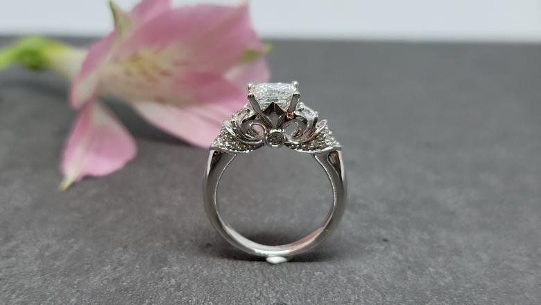 Princess Cut Diamond Engagement