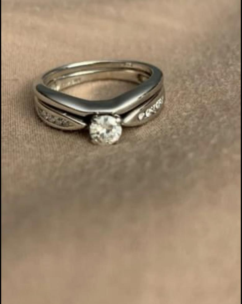 White Gold Engagement and