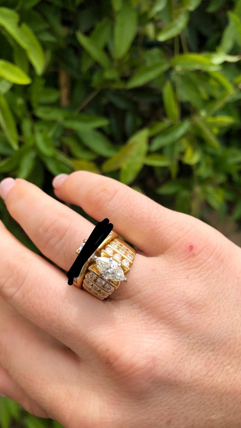 14K Yellow Gold Marquise