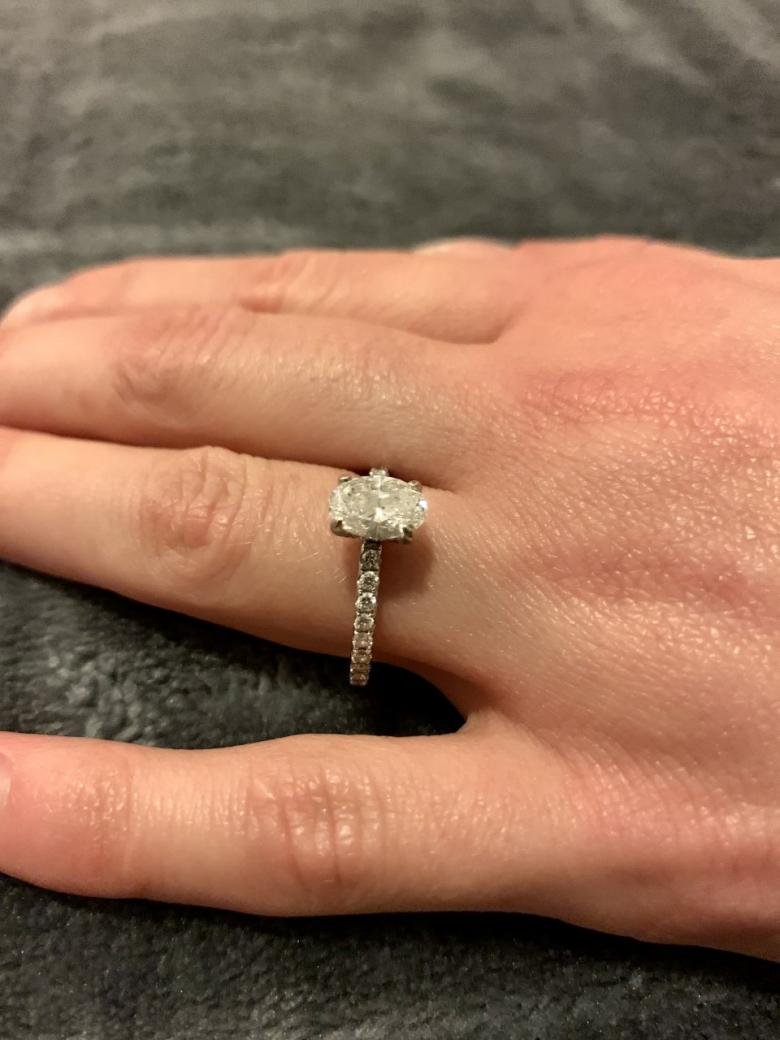 Oval Engagement Ring -
