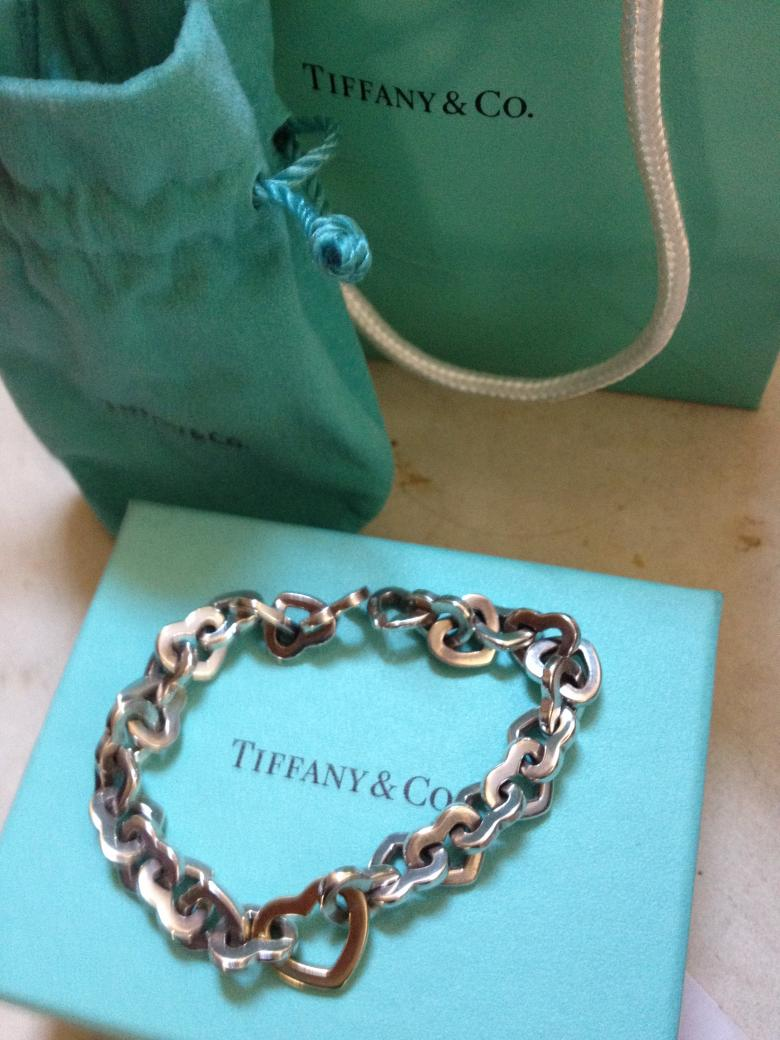 Tiffany Amp Co Sterling Silver And 18k Gold Heart Bracelet