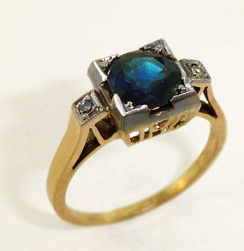 REDUCED Gorgeous Vintage Estate Sapphire Engagement Ring circa 1900 apprais