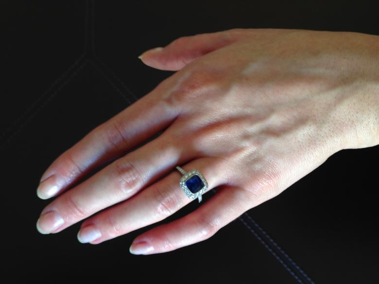Beautiful Sapphire and Diamond Engagement Ring from the Tiffany Legacy Collec