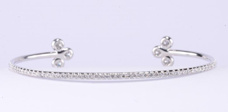 1.90 Ct Diamond Cuff-Bracelet
