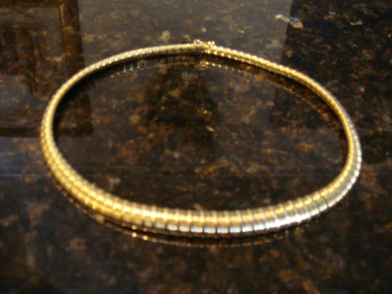 14k solid gold collar
