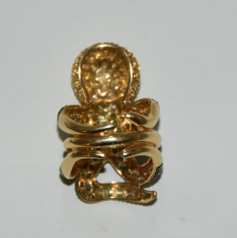 Octopus Ring 18Kt Yellow