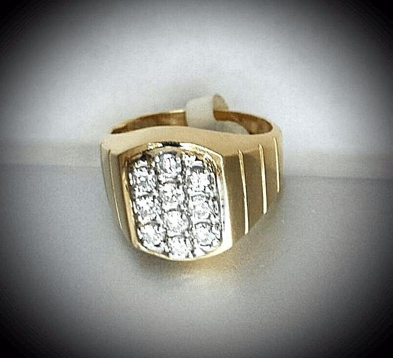 "MEN$_GEM$ RING ""DIAMOND HEADLIGHT$"""