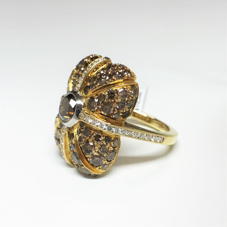 18-K Yellow Gold Fancy