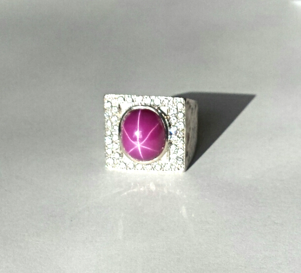 BOYZ GEM$~CHUNK RING~DIAMOND$(1.11CT)~PLUM STAR