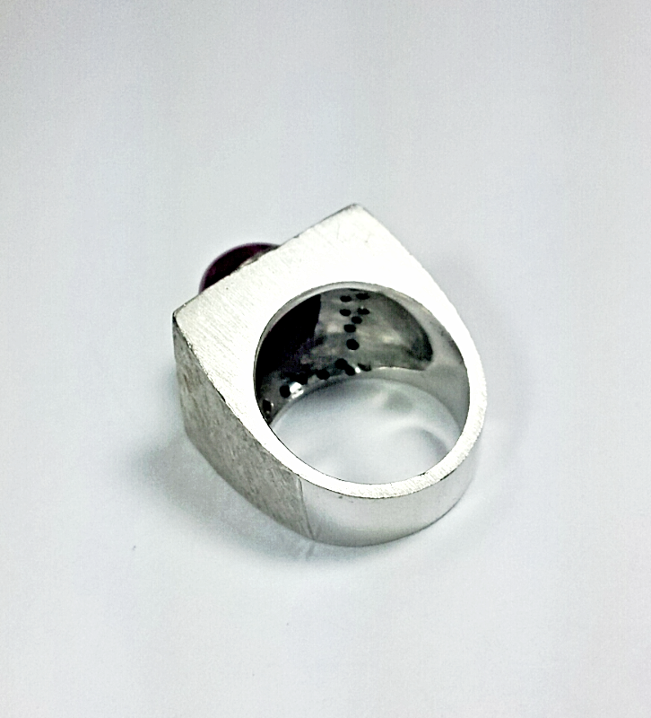 HOOD BOYZ GEM$~CHUNK RING~DIAMOND$(1.11CT)PLUM