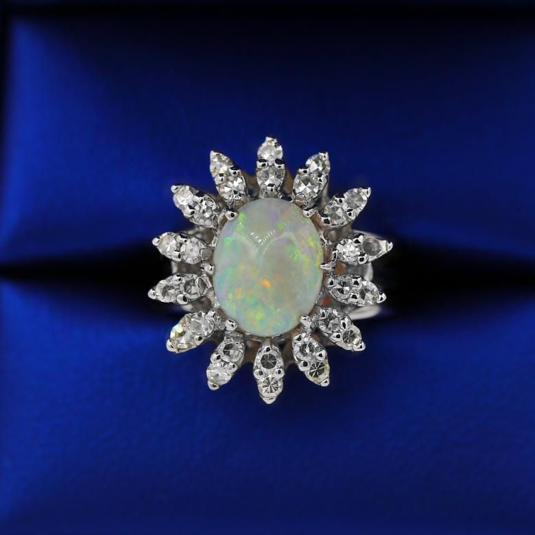 Vintage Opal and White