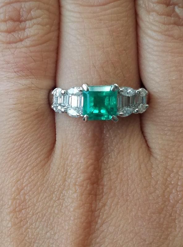 Platinum Emerald and Diamond