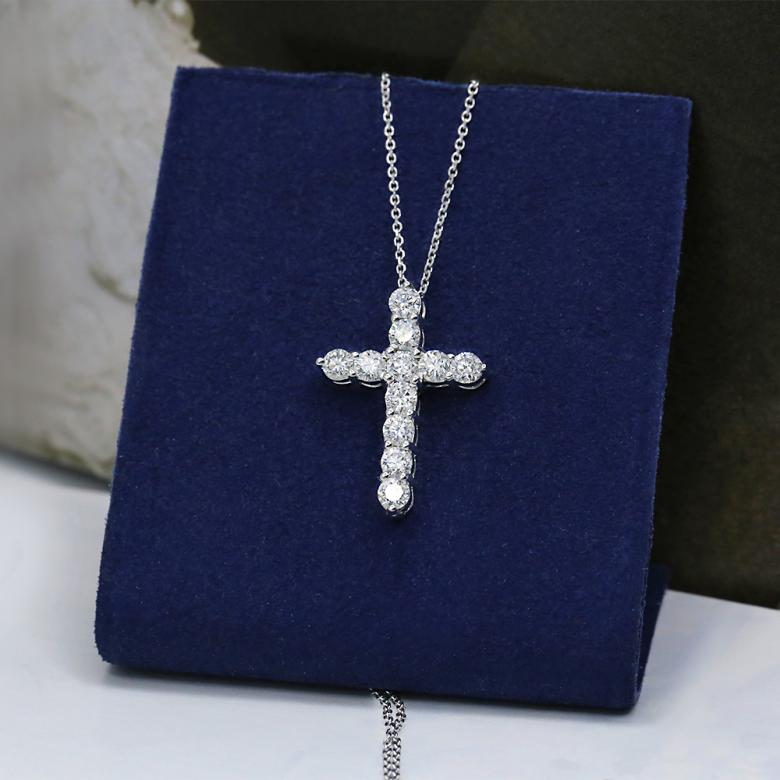 White Perfect Gold Cross