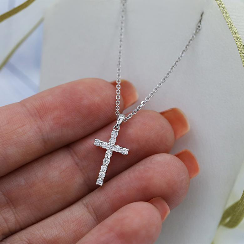 Handmade Gold Diamond Cross