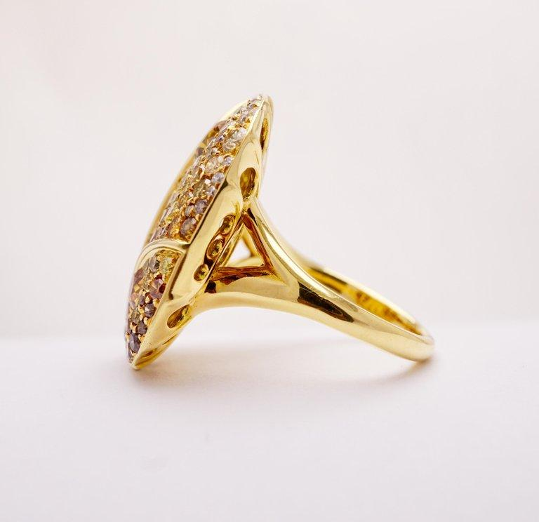 Graduating Cocktail Ring with