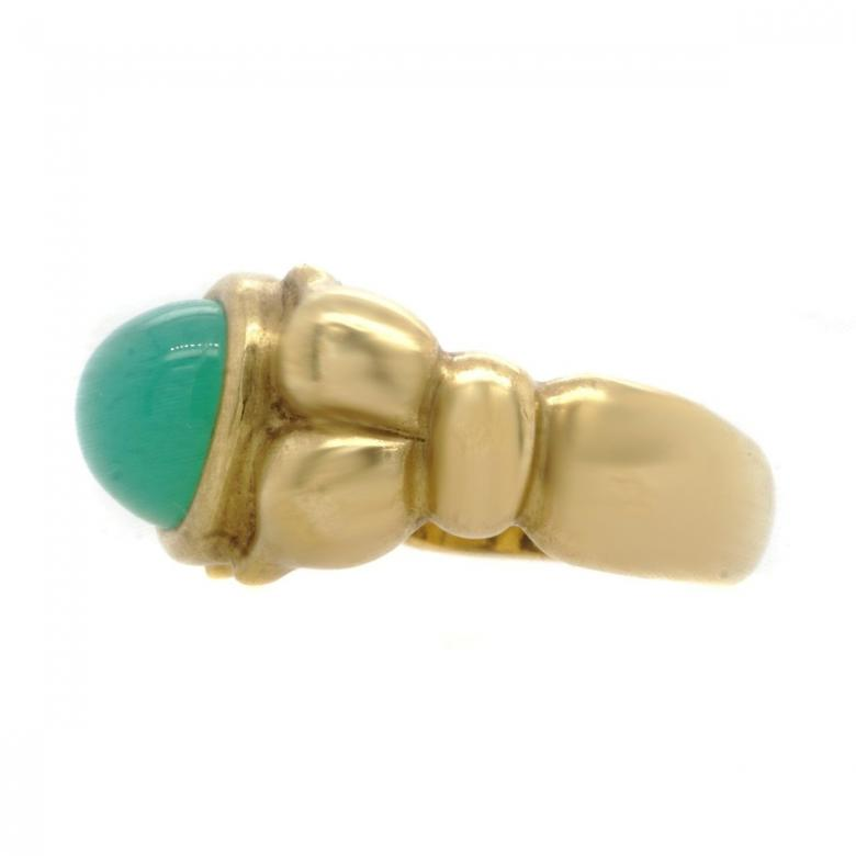 18K Yellow Gold Green