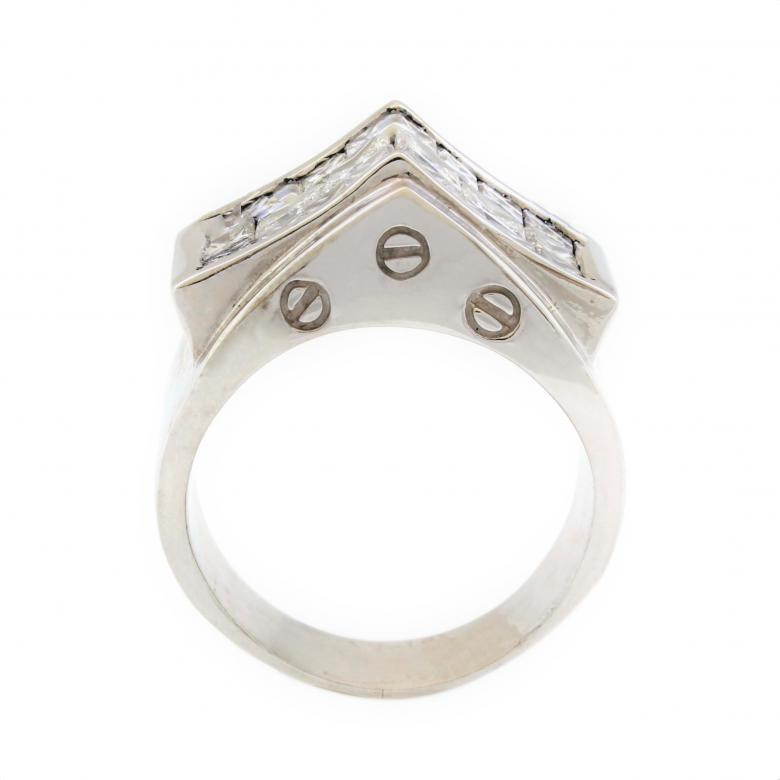14K White Gold 2ct