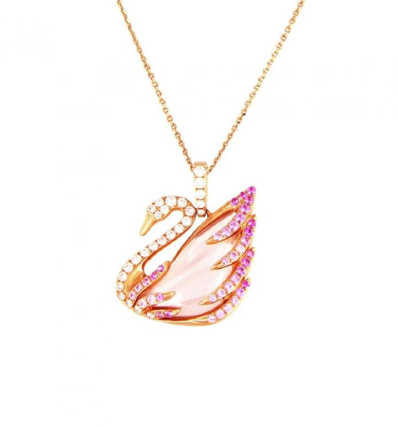 Swarovski Pink Faithful Swan