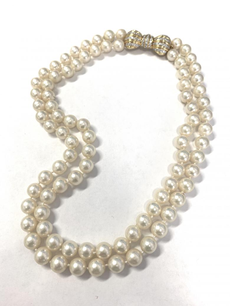Double Strand Cultured Pearl