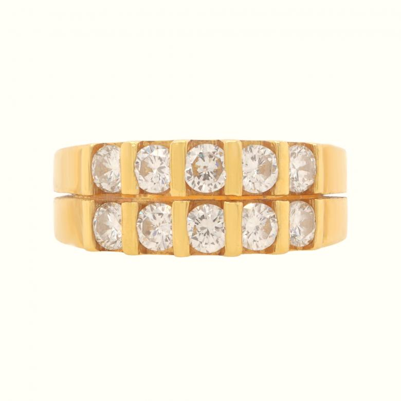 18K Yellow Gold Diamond