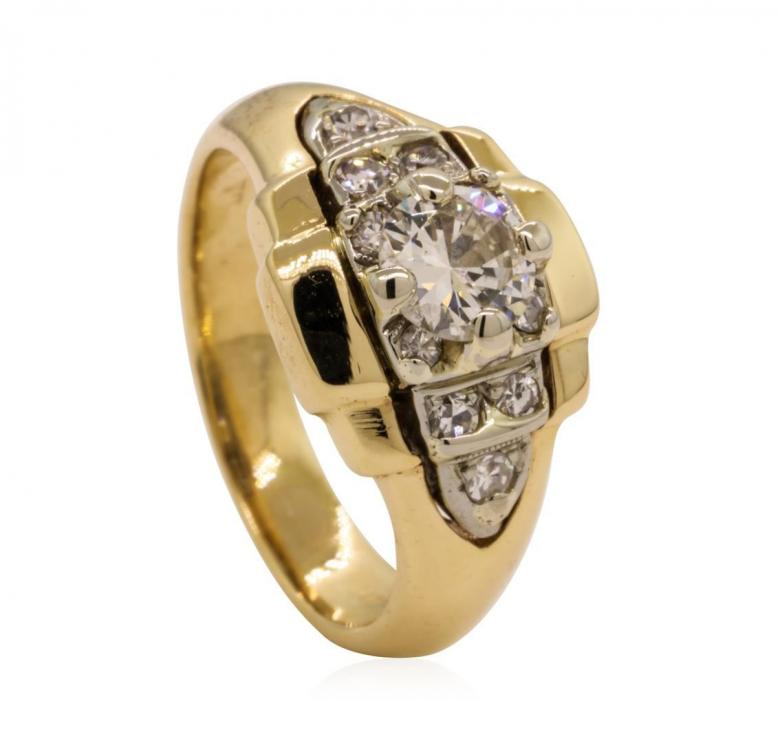 14KT yellow and white
