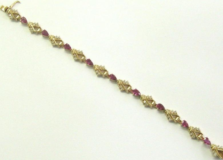 Natural Pear Ruby Diamond