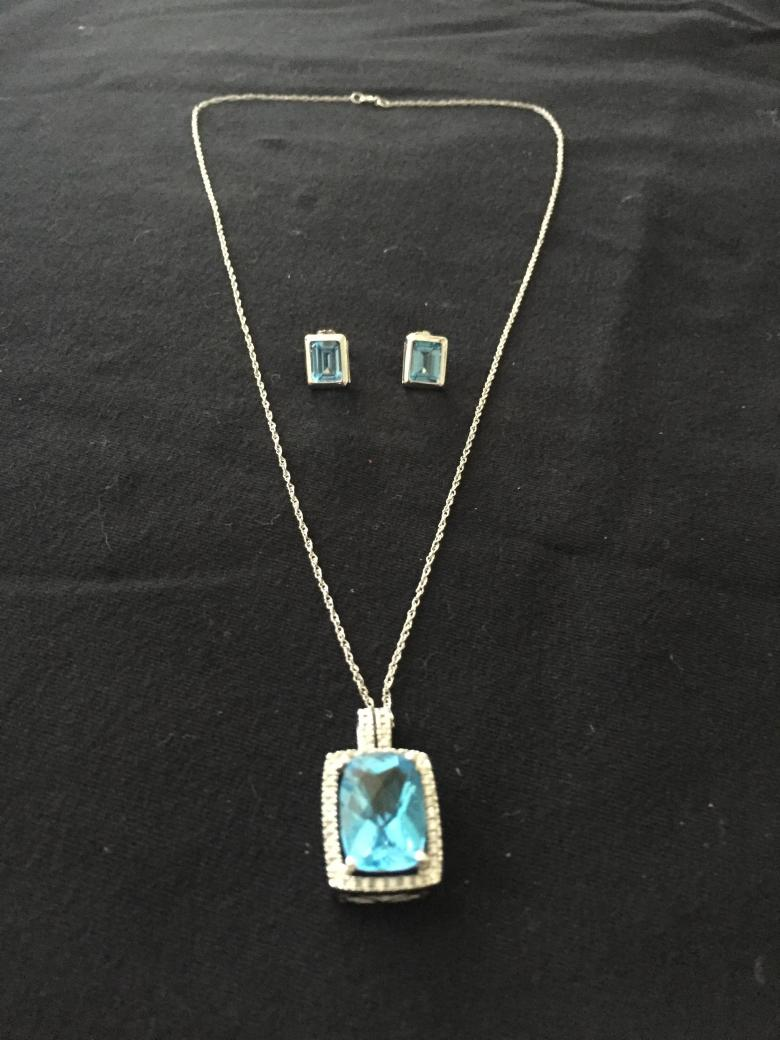 Blue Topaz Necklace and