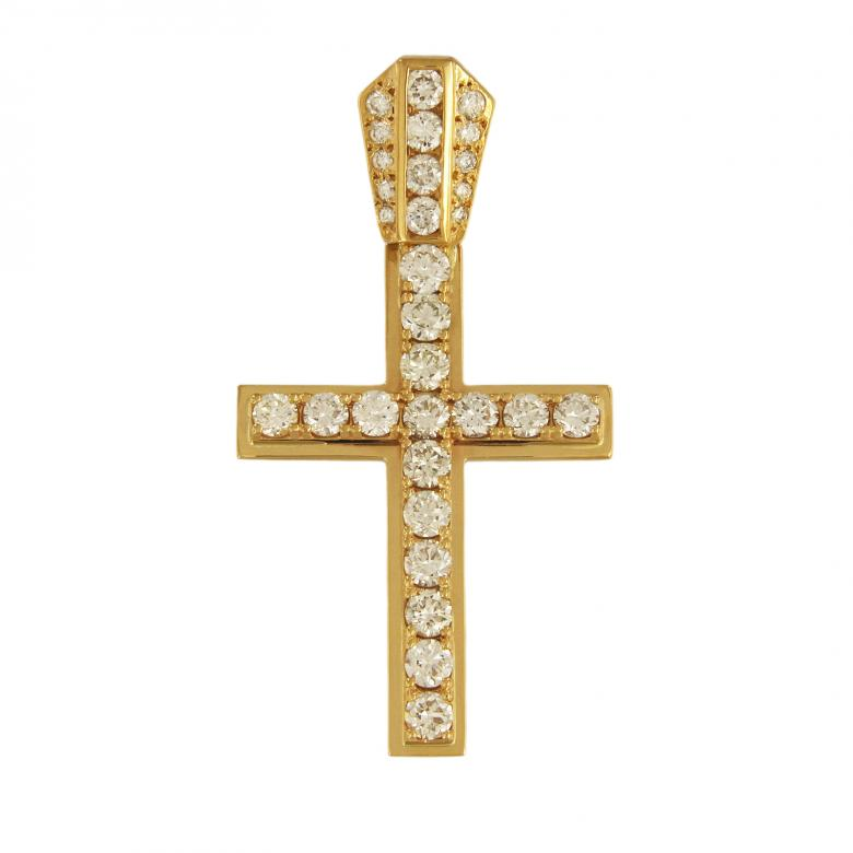 Fancy Yellow Gold Cross