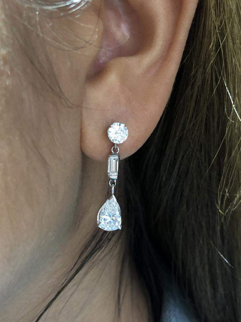 Amazing drop chandelier earrings