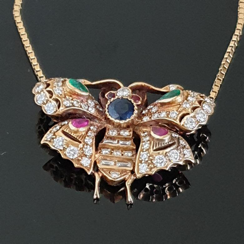 Italian butterfly necklace