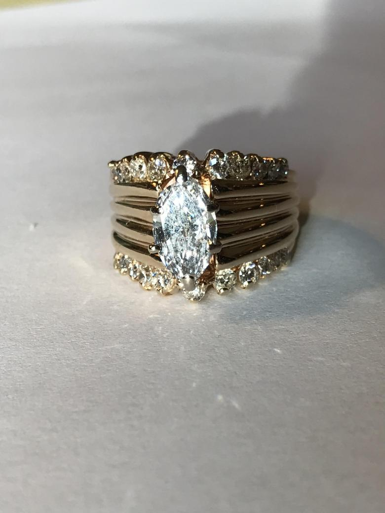Marquise Diamond Ring With