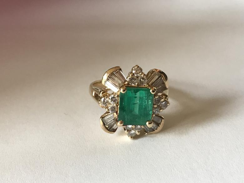 Emerald Synthetic Ring