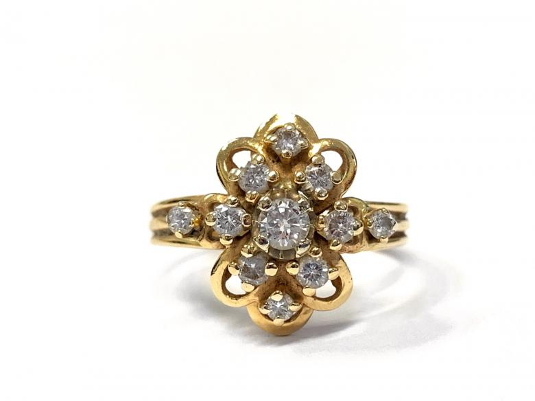 14K Yellow Gold Diamond