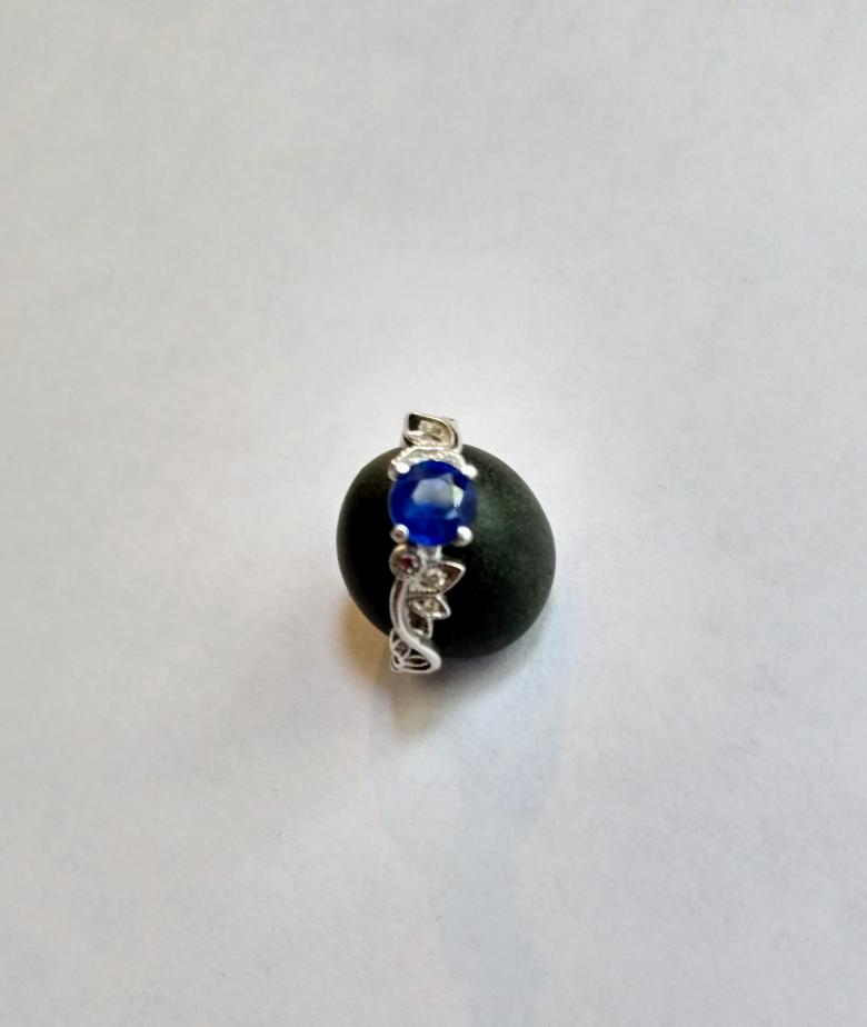Leaf Inspired Sapphire and