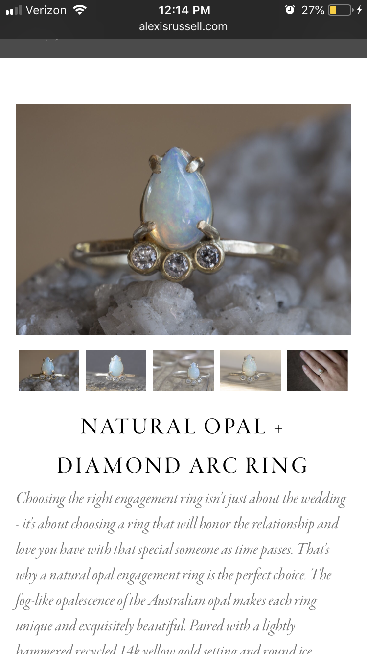 Tear Drop Opal and