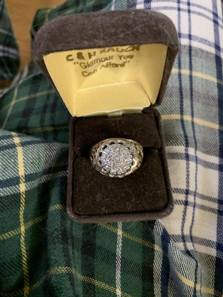 Grandfather's diamond cluster ring