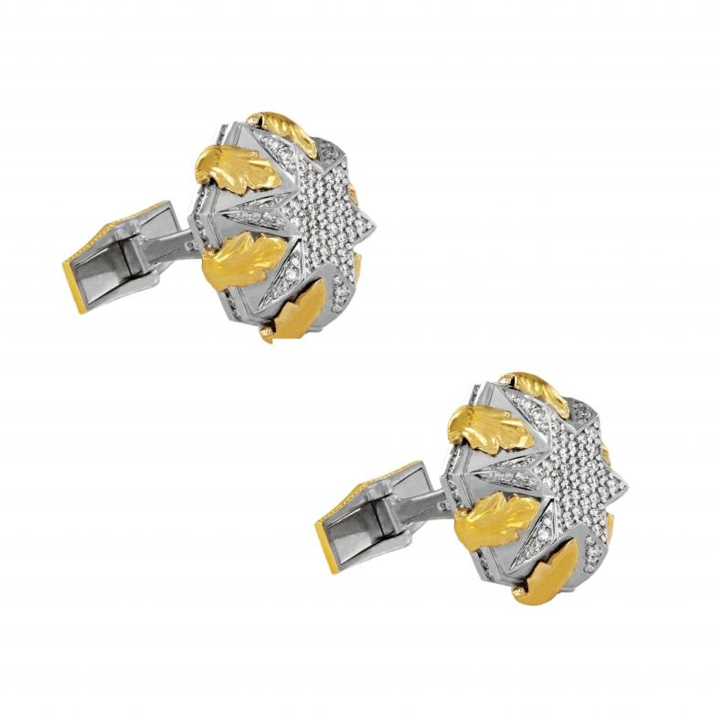 Two tone Men Cufflinks