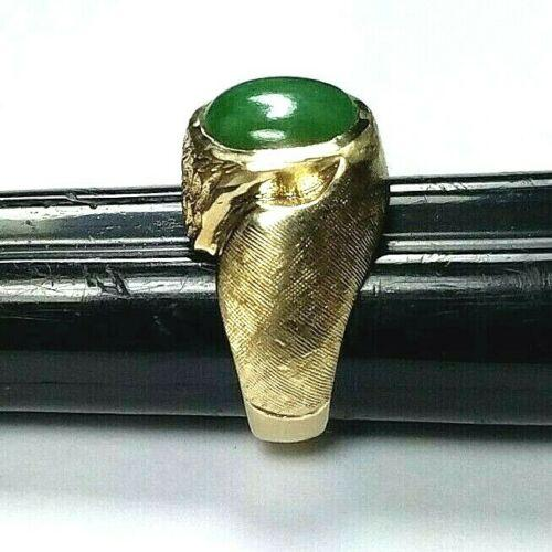 MEN'S 14K GREEN JADE