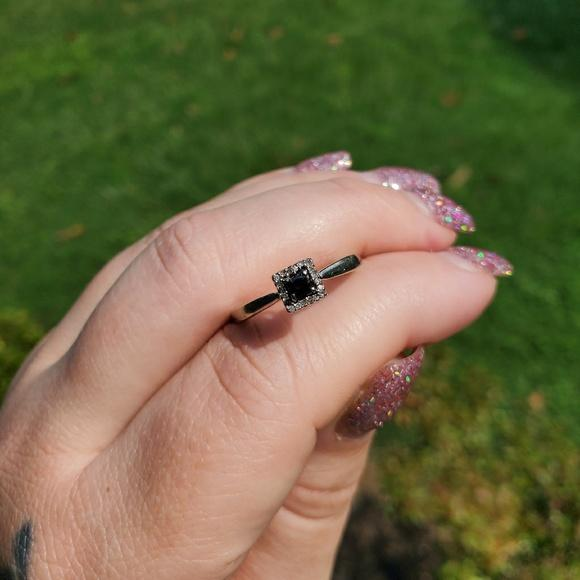 Zales Black Diamond Ring