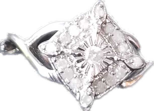 Beautiful Womens Rhodium Over