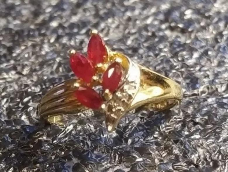 10K Solid Gold Ruby