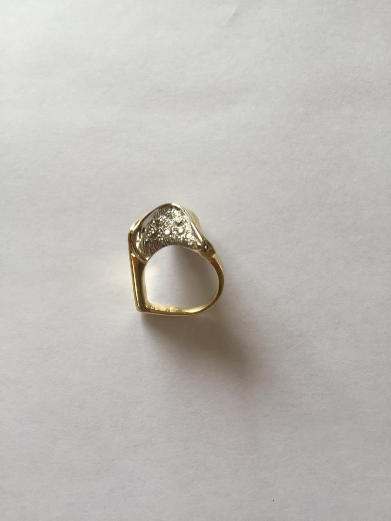 DIAMOND COCKTAIL RING, TWO