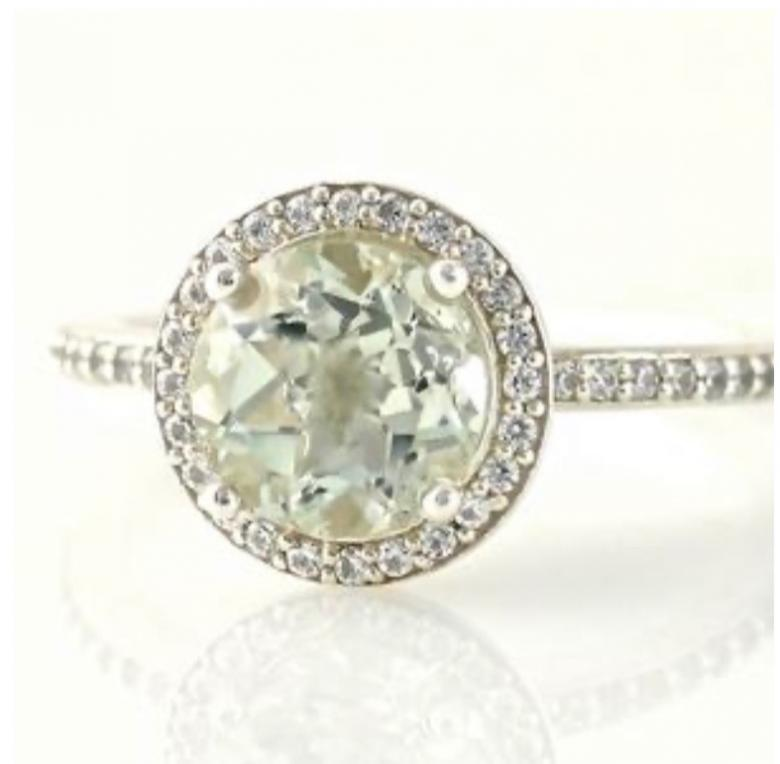 Green Amethyst Ring Diamond