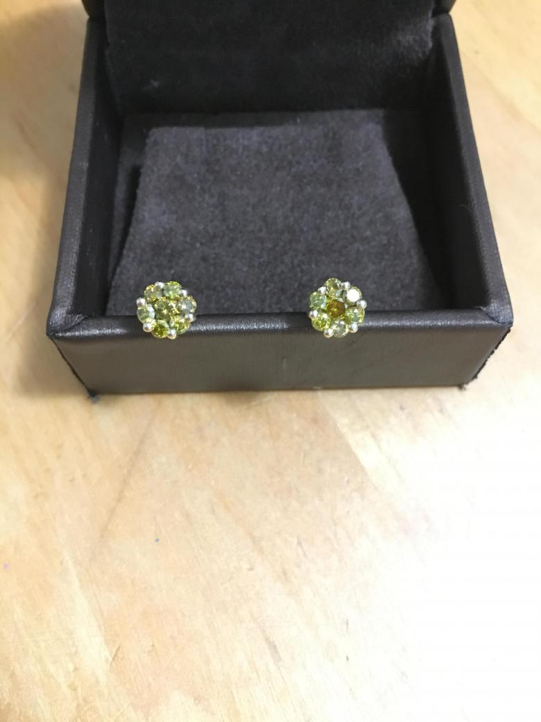 10K Yellow Diamond Flower
