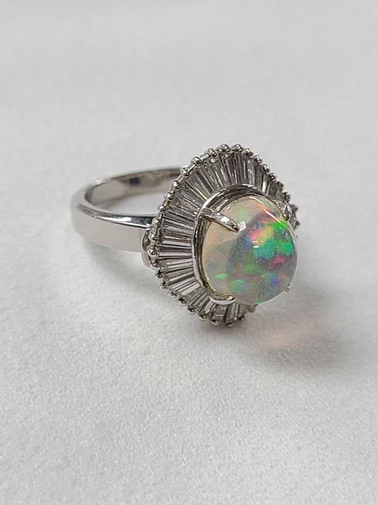 Mexican opal ring set
